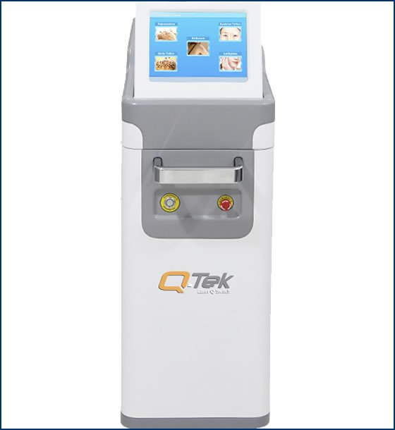 Q-Tek is the newest generation of Electro-Optic ND-Yag Q-Switched Laser for skin and Tattoos ink removal by Supramedical