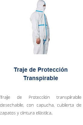 Traje de Protección transpirable